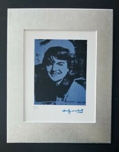 ANDY WARHOL ORIGINAL 1984 SIGNED NUMBERED JACKIE KENNEDY PRINT MATTED 11X14