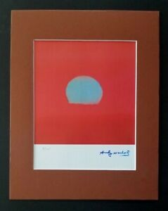 ANDY WARHOL ORIGINAL 1984 SIGNED NUMBERED  PRINT MATTED 11X14