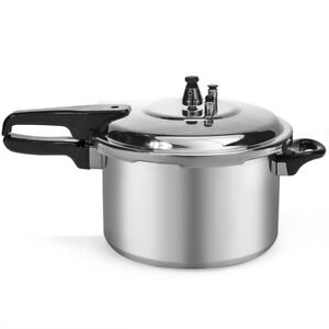 New 6-Quart Aluminum Pressure Cooker Fast Cooker Cookware Kitchen Large Capacity