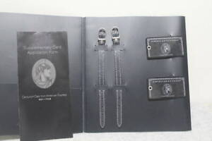 American Express Centurion Black card holders x 2 limited baggage tag box NEW