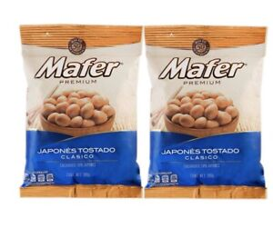 2 Pack Mafer Premium Mexican Peanuts, Japones Tostado Limon 180g e/a + Free Ship