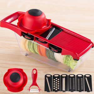 6 In 1 Blades Mandoline Slicer Fruit Vegetable Chopper Kitchen Cutter Food Tools