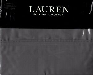 Ralph Lauren Twin Sheet Set Dunham Charcoal Gray 3pc Modern Cottage 300TC Sateen
