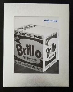 ANDY WARHOL ORIGINAL 1983 SIGNED NUMBERED BRILLO PRINT MATTED 11X14