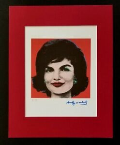 ANDY WARHOL ORIGINAL 1983 SIGNED NUMBERED JACKIE KENNEDY PRINT MATTED 11X14