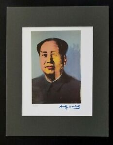 ANDY WARHOL ORIGINAL 1983 SIGNED NUMBERED MAO PRINT MATTED 11X14