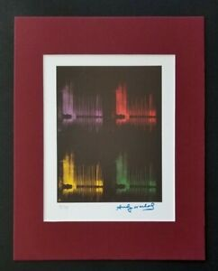 ANDY WARHOL ORIGINAL 1983 SIGNED NUMBERED  PRINT MATTED 11X14