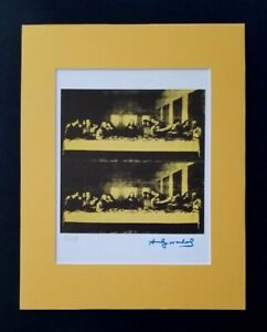 ANDY WARHOL ORIGINAL 1983 SIGNED NUMBERED LAST SUPPER PRINT MATTED 11X14