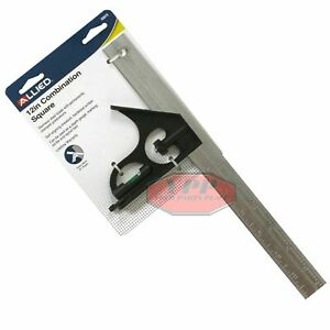 12quot; Adjustable Combination Square With Level Engineers Angle Finder Allied 32872 $9.95