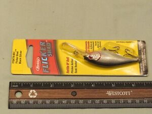 Vintage NOS Berkley Flicker Shad Black Silver FFSH7M-BSV Fishing Lure