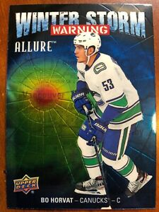 19 20 UD Allure Hockey Winter Storm Warning WSW 19 Bo Horvat