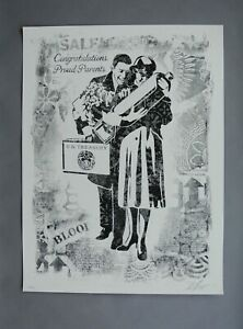 PROUD PARENTS : SIGNEDNUMBERED LITHOGRAPH : OBEY : SHEPARD FAIREY