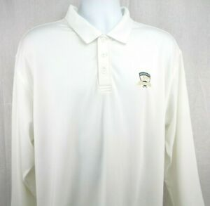 Under Armour Golf Polo Shirt XL White Long Sleeve Ferncroft Country Club $26.95