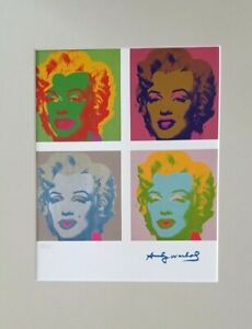 ANDY WARHOL ORIGINAL 1984 SIGNED NUMBERED  MARILYN MONROE PRINT MATTED 11X14