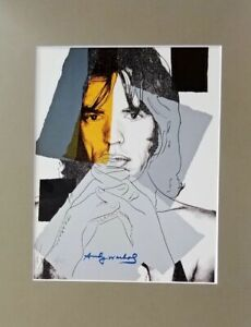 ANDY WARHOL ORIGINAL 1984 SIGNED NUMBERED MICK JAGGER PRINT MATTED 11X14