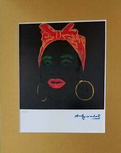 ANDY WARHOL ORIGINAL 1984 SIGNED NUMBERED BEAUTIFUL PRINT MATTED 11X14