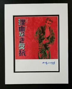 ANDY WARHOL ORIGINAL 1984 SIGNED NUMBERED JAMES DEAN PRINT MATTED 11X14