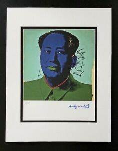 ANDY WARHOL ORIGINAL 1984 SIGNED NUMBERED MAO PRINT MATTED 11X14