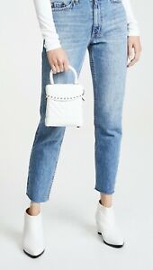 NWT Sam Edelman Charlie Quilted Box Crossbody White Spiked Bag Purse RT $148 $68.00