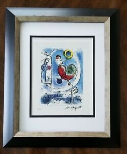 MARC CHAGALL ORIGINAL 1963 BEAUTIFUL SIGNED HAND NUMBERED  PRINT MATTED 11 X 14