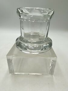 HOME INTERIORS - CLEAR CRYSTAL GLASS VOTIVE/TEALIGHT CANDLE HOLDER