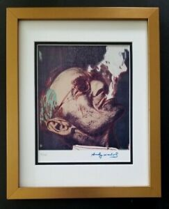 ANDY WARHOL ORIGINAL 1984 SIGNED NUMBERED  HERMANN HESSE PRINT MATTED 11X14