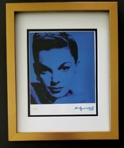 ANDY WARHOL ORIGINAL 1984 SIGNED NUMBERED  JUDY GARLAND PRINT MATTED 11X14