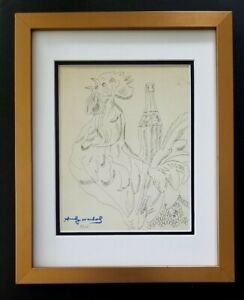 ANDY WARHOL ORIGINAL 1984 SIGNED NUMBERED COCA COLA  PRINT MATTED 11X14