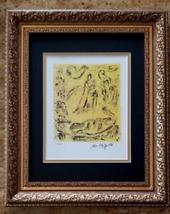 MARC CHAGALL ORIGINAL 1971 BEAUTIFUL SIGNED HAND NUMBERED  PRINT MATTED 11 X 14