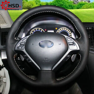 Sewing Leather Steering Wheel Cover For Infiniti QX50 G25 G35 G37 EX25 EX35 EX37 $29.90