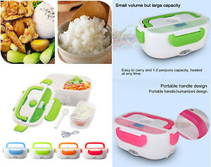 12V 110V Portable Electric Heating Lunch Box Food Heater Bento Warmer Container