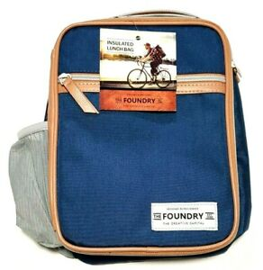 The Foundry Fit and Fresh Thayer Insulated Lunch Bag with Bottle Pocket PVC free