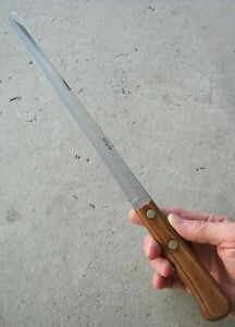 VINTAGE SHUR EDGE 15quot; CARVING SLICING KNIFE 2 PIN HALF TANG EXCELLENT STEEL NOS