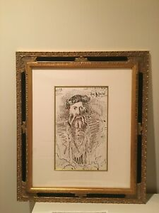 Pablo Picasso Framed Signed Lithograph wCOA Limited Edition of 250 $660.00