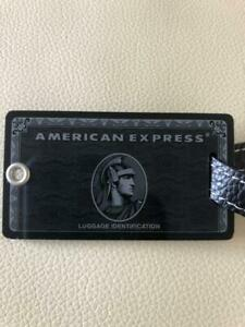 American Express AMEX Centurion Member Only Black Card Name Tag