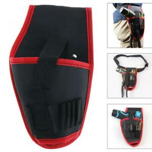 Portable Electrical Drill Pockets Tools Bag with Belt and Tool Storage