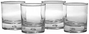 Air Bubble Heavy Base Whiskey Glass Drinking Glasses, Set of 4, Oslo
