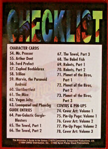 HITCHHIKER#x27;S GUIDE TO THE GALAXY Card #100 CHECKLIST CARDZ 1994