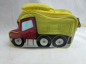 Boys Thermos Insulated Soft Side Lunch Bag Box Shaped Like Dump Truck