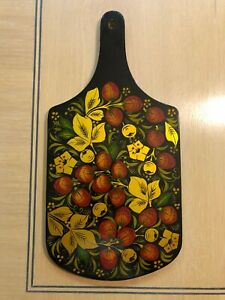 New Russian Vintage Hand Painted Wood Cutting Board -- excellent gift