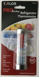 NEW TAYLOR 3503-66 Refrigerator Freezer Thermometer Sealed Package