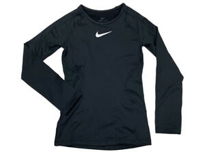 Nike Pro Warm Girls Dri Fit Tight Fit Training Shirt Black CJ4373 010 New $22.97