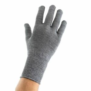 EDZ Merino Wool Thermal Inner Liner Motorcycle Gloves Grey Winter Bike Under $12.92