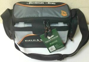 Field and Stream Fishing Tackle Carry Bag w 3 3500 Utility Storage Boxes Trays