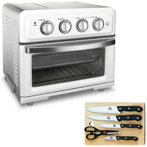 Cuisinart Convection Toaster Oven Air Fryer White + Knife Set and Cutting Board