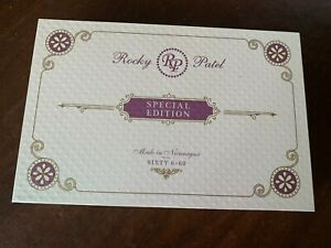 Rocky Patel Genuine Wood Cigar Box Lift Lid Special Edition Sixty Quilted Box $14.99