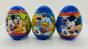 Mickey Mouse & Friends 3 plastic surprise egg toy and candy-FREE SHIPPING