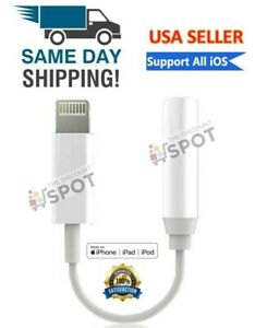 Lightning to 3.5mm Headphone Jack Adapter cord dongle iPhone 7 8 PLUS X XR XS 11 $3.24