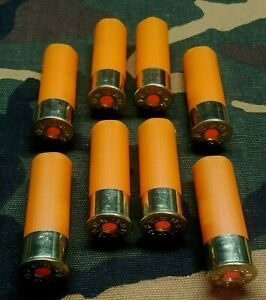 12 GAUGE 2 3 4 SNAP CAPS DUMMY TRAINING ROUNDS SET OF 8 SAFETY ORANGE
