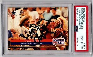 PSA 1/1! DUAL AUTO Dallas Cowboys CRAZY RAY CHIEF ZEE Washington Redskins SIGNED